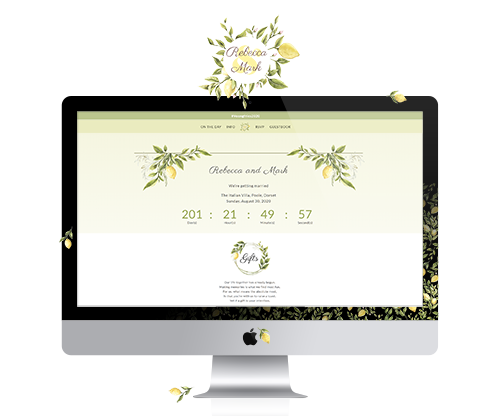 Wedding website - Rebecca & Mark