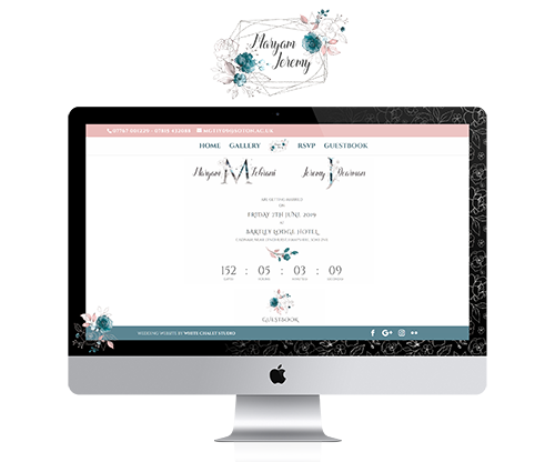 Wedding website - Maryam & Jeremy